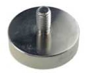 Pot Magnet (NdFeB) - with external thread, NiCuNi coating